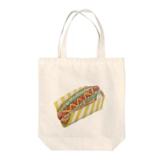 シロクマさんのホットドッグ Tote bags