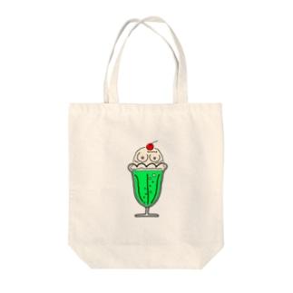 おっぱいクリームソーダ(グリーンver) Tote bags