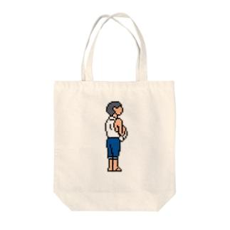 晴海埠頭にて Tote bags