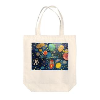 こどもの頭の中の宇宙 Tote bags