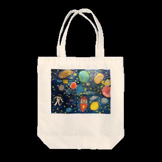 mackeyのこどもの頭の中の宇宙 Tote bags