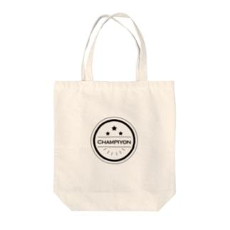 ちゃんピヨんロゴ(ブラック) Tote bags