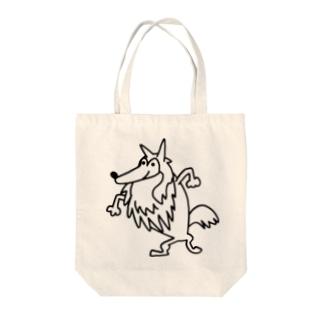 いたずらレオン モノクロ Tote bags