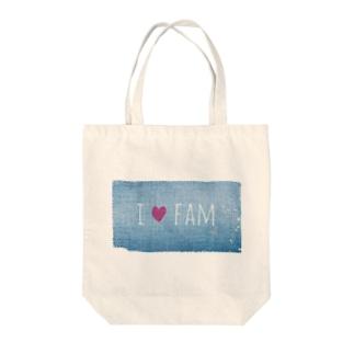 denim-family Tote bags