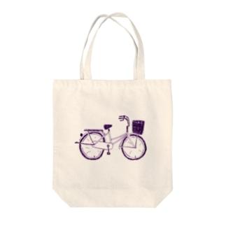 自転車デザイン「ママチャリ」 Tote bags