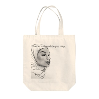 Gather roses while you may. Tote bags