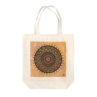 曼荼羅 in マーブル模様 7 Tote bags