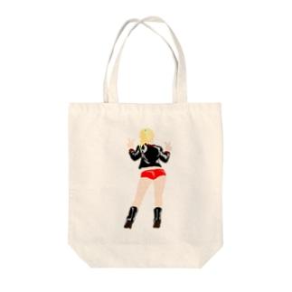 ポニーテール Girl! Tote bags