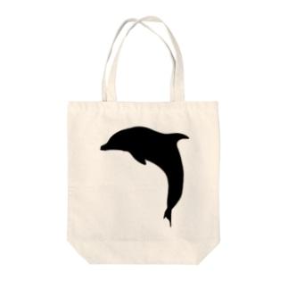 イルカのシュルエットー黒 Tote bags