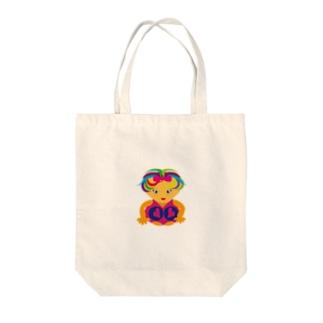 可愛い女の子ビザコちゃん Tote bags