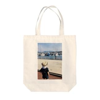 初めての海とヨット Tote bags