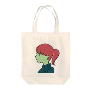 僕の彼女 Tote bags