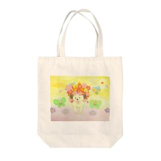 お花ハリー Tote bags