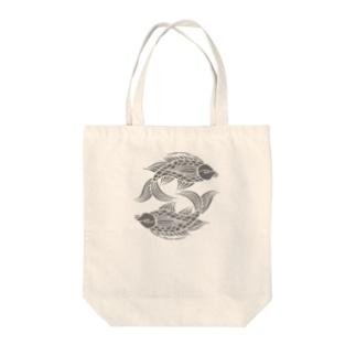 壷屋焼風双魚文 Tote bags