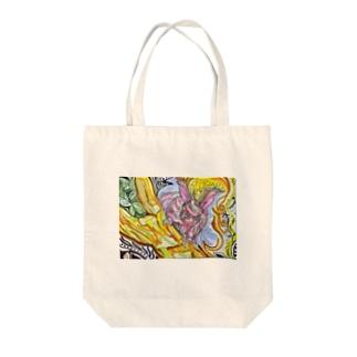 秋模様とエゾリスと。 Tote bags