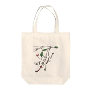 腹ペコ カメレオン Tote bags