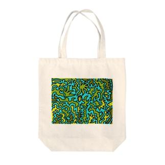 東京ジャングル Tote bags