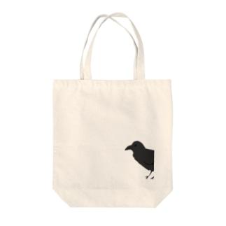 からす Tote bags