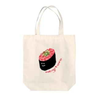 ねぎとろちゃん Tote bags
