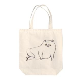 クイーンねこ Tote bags