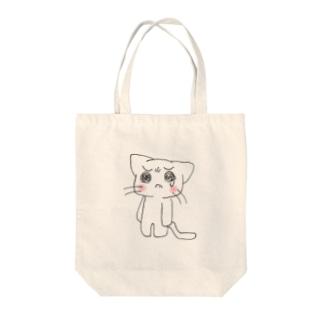 泣き虫にゃんこ Tote bags