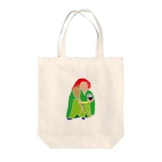 野元の田の神 Tote bags