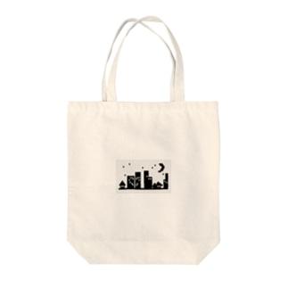 夜景 Tote bags