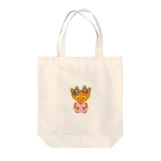 可愛い女の子のグッズ Tote bags