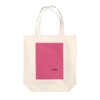 Hello pink Tote bags