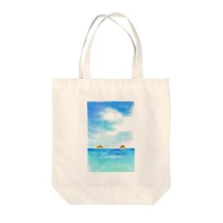 ラニカイビーチ Tote bags