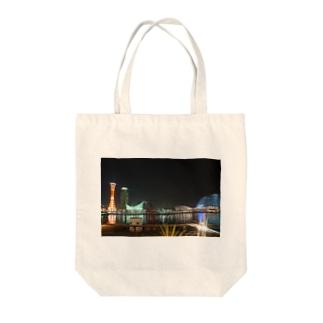 神戸の夜景 Tote bags