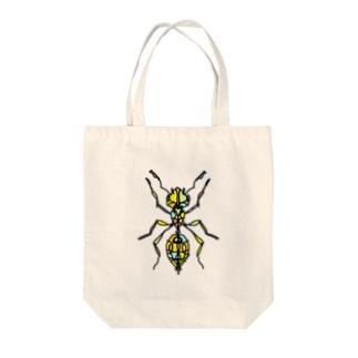 ant☆(あり)カラーバージョン Full of vitality (フル オブ バイタリティ) Tote bags
