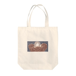スウェットをかぶる女の子 Tote bags