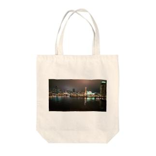 港の夜景 Tote bags