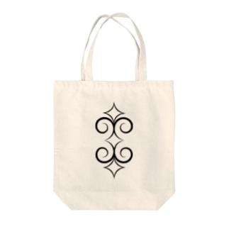 アイヌ文様風 Tote bags