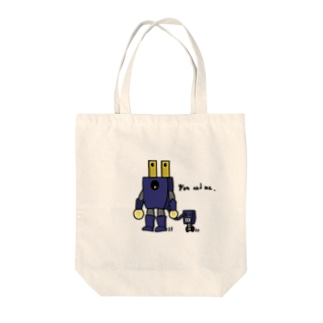 You and me. 文字入り Tote bags
