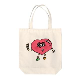 ハートボーイ Tote bags