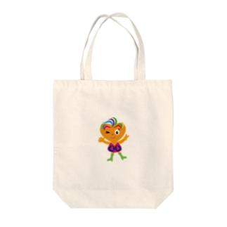 可愛い女の子ビザコちゃんのピース Tote bags