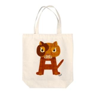 アルファベットキャッツA Tote bags
