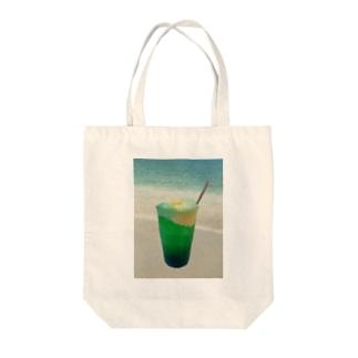 海辺のソーダフロート Tote bags