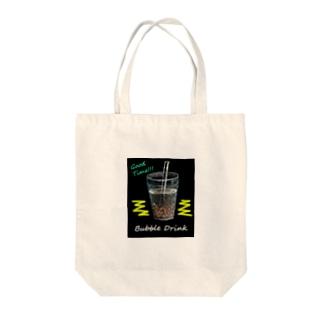 tapioca cafe Tote bags