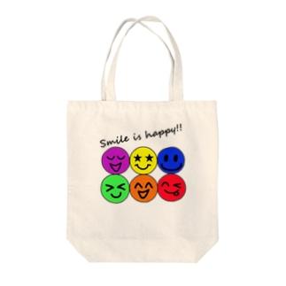 ハッピー&スマイル♬ Tote bags