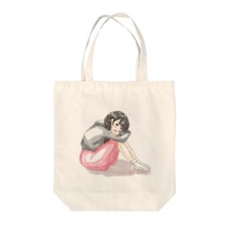 ねぇ Tote bags