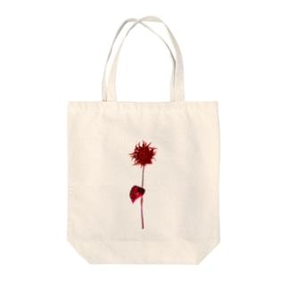 ダリア Tote bags