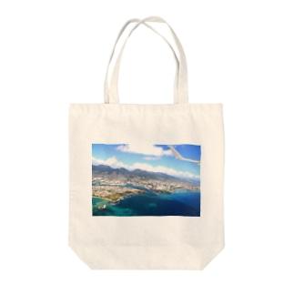 island Tote bags