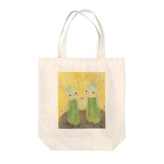 葱の恋人達 Tote bags