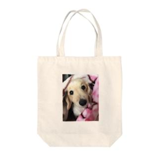 愛犬と一緒 Tote bags