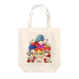 カラフル男子くん Tote bags