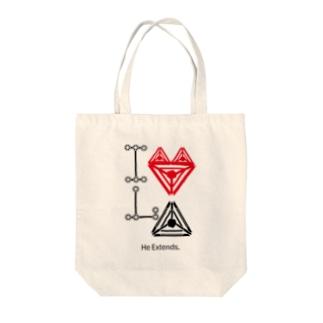 I Love LinkAmp Tote bags