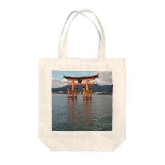 宮島の鳥居 Tote bags